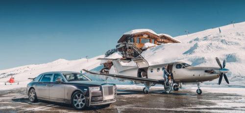 Luxury car private jet in Courchevel