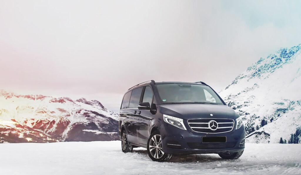 Rent Mercedes-Benz V250 4Matic ski resort