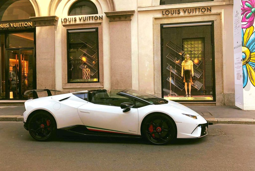 Rent a Luxury Car Milan Via Montenapoleone